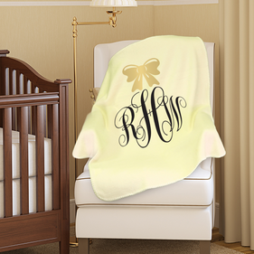Personalized Plush Monogram Baby Blanket
