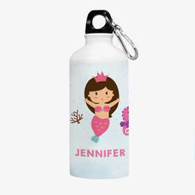 Mermaid Princess Personalized Aluminum Water Bottle