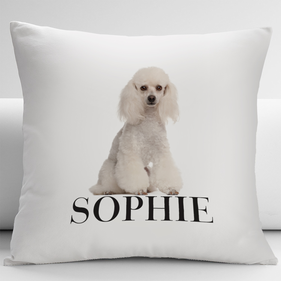 Personalized Poodle Pets Decorative Cushion Cover