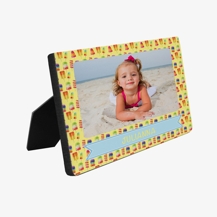 Personalized Popsicle Photo Hardboard Picture Frame