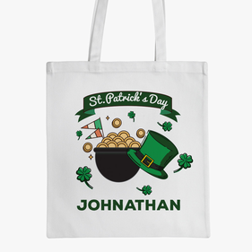 Personalized Pot of Gold Tote Bag
