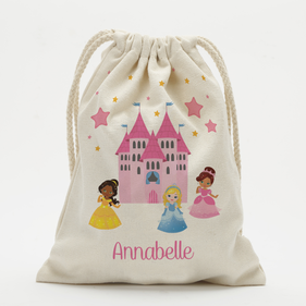 Personalized Princess Castle Drawstring Sack