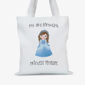 Personalized Princess Character Tote Bag