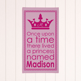 Personalized Princess Wall Canvas