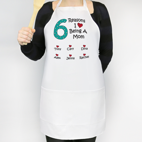 Personalized The Reasons Apron for Mom and Grandma