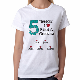 Personalized Reasons T-shirt for Grandma