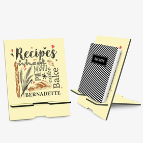 Personalized Recipe Book Stand or Ipad Stand