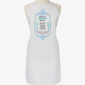 Personalized Recipe for Happiness Apron