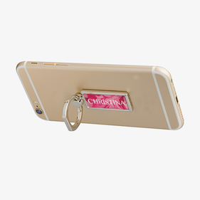 Personalized Rectangle Name Mobile Phone Ring Holder