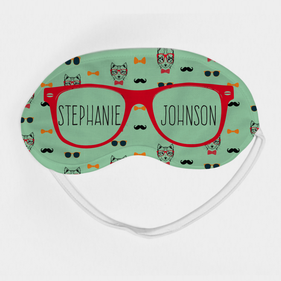 Personalized Red Sunglasses Eye Mask