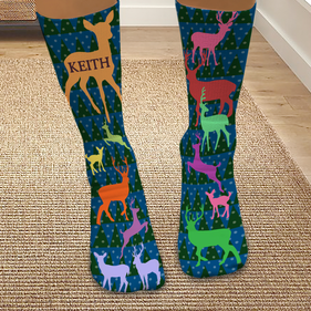Personalized Reindeer Tube Socks