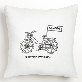 Personalized Ride your own path... Cushion Cover
