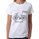 Personalized Ride Your Own Path Design Women's T-Shirt