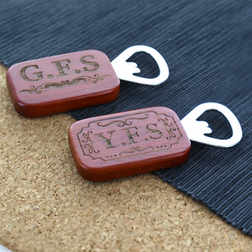Personalized Rosewood Rectangular Bottle Opener