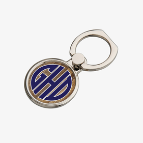Personalized Round Block Letter Monogram Mobile Phone Ring Holder