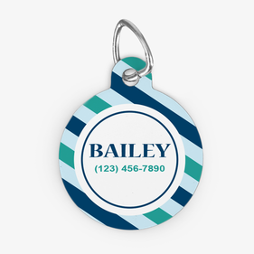 Personalized Round ID Dog Tag