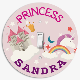 Personalized Round Light Switch Cover