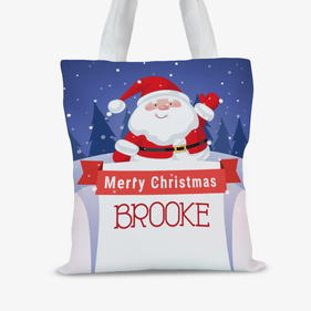 Personalized Santa Claus Christmas Tote Bag