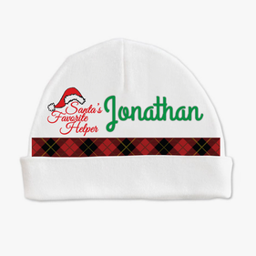 Personalized Santa's Helper Baby Cap