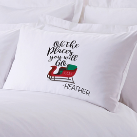Personalized Santa's Sleigh Pillow Case