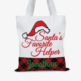 Personalized Santa's Helper Tote Bag