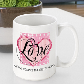 Personalized Heart Coffee Mugs