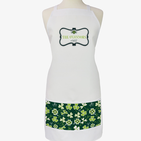 Personalized Shamrock Family Apron