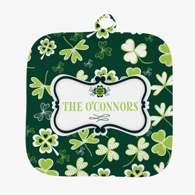 Personalized Shamrock Pot Holder