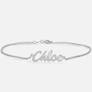 Sterling Silver Personalized Name Bracelet