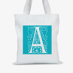 Personalized Single Initial Tote Bag