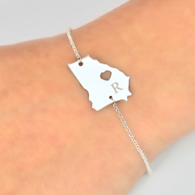 Personalized Single State Initial Bracelet