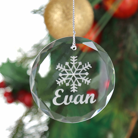 Personalized Crystal Snowflake Christmas Ornament