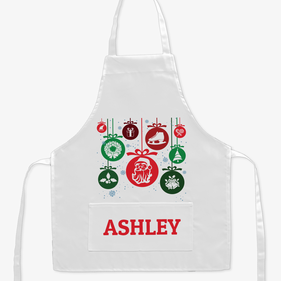 Personalized Snowflake Ornament Kids Apron