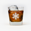 Personalized Snowflake Whiskey Glass