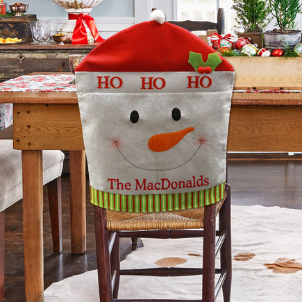 Personalized Snowman Chair Cover