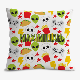 Personalized Space Invaders Decorative Cushion Cover