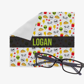 Personalized Space Invaders Eye Glasses Cleaning Cloth