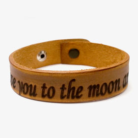 Personalized Special Message Leather Bracelet