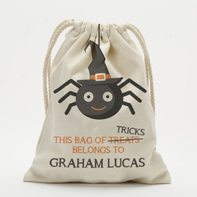 Personalized Spider Drawstring Sack