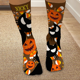 Personalized Spooky Halloween Tube Socks