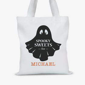 Personalized Spooky Sweets Halloween Large Trick or Treat Tote Bag