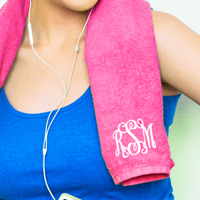 Personalized Script Monogram Sport Towel