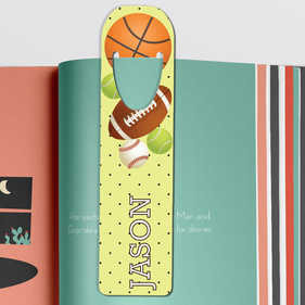 Personalized Sports Balls Bookmark