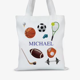 Personalized Sports Kids Tote Bag