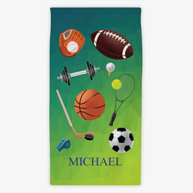 Flash Sale - Personalized Sports Kids Towel