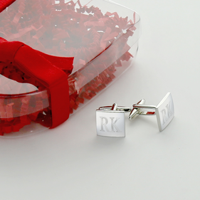 Personalized Square Cuff Links Gift Set