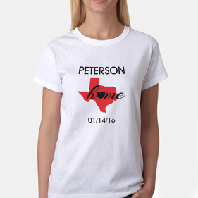 Exclusive Sale - Personalized State Design Ladies' T-Shirt