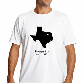Personalized State Design Men's T-Shirt