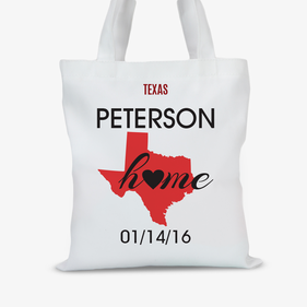 Personalized State Design Tote Bag