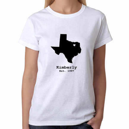 Personalized State Design Women's T-Shirt